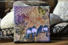 Liesbeth's Arts & Crafts: Mixed media canvasjes