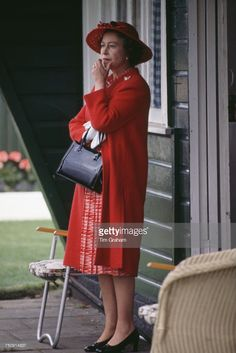 getty: Queen Elizabeth watching a polo match, June 17, 1980