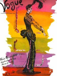 Vogue, 1939.  Illustration: Christian Berard.