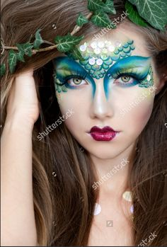 Mermaid, h Makeup.. Lips