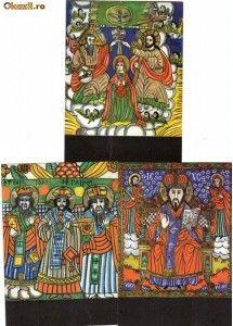 Set 7 Ilustrate Icoane pe sticla | Okazii.ro Album, Card Book