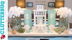 I am in love with a Beach Decor theme for my home in the summer! Watch as I DIY some Beach Decor using Pottery Barn as my inspiration. Beach Theme Bathroom, Beach Room, Diy Bathroom Decor, Beach Art, Bathroom Colours, Ocean Beach, Bedroom Decor, Beach Theme Centerpieces, Wedding Decorations