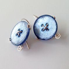 Easy Button Earrings