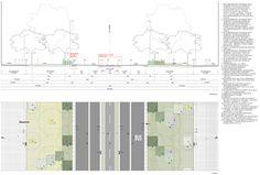 Passeig De St Joan Boulevard by Lola Domènech-19-planta-seccio « Landscape Architecture Works | Landezine