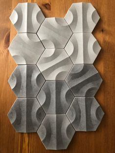 Nova 6 tiles made of polymer concrete.Nova 6 tiles made of polymer concrete.The post Nova 6 tiles made of poly 3d Wall Tiles, Wall Tiles Design, 3d Wall Art, Wall Patterns, Textures Patterns, Module Design, 3d Pattern, 3d Wall Panels, Concrete Tiles