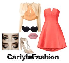 """Party Night"" by carlylefashion on Polyvore featuring Halston Heritage, Jean-Paul Gaultier, BCBGeneration and Lime Crime"