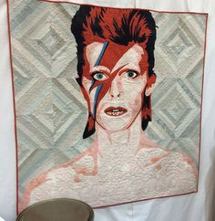 David Bowie quilt by Holly Hickman, seen at QuiltCon 2016