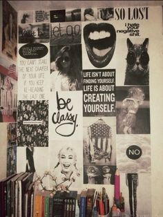 What sort of posters are you looking to decorate your Dorm Room walls with? I love the all black and white here
