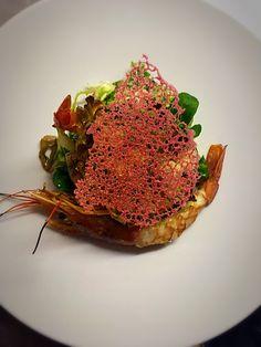 Carciofo con gamberoni e corallo