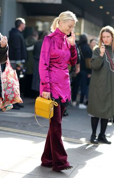 The Dress-Over-Pants Trend Lives On in London