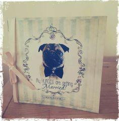 Pug wedding invitation
