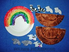 Noah's Ark Paper Plate Craft for Kids (with link to printable animals)