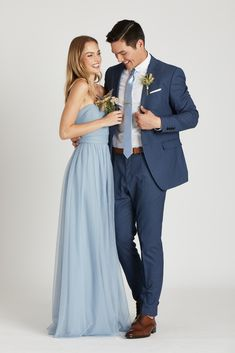 the knot Simon Necktie - Dusty Blue Sateen – Birdy Grey Wedding Gowns: A Guide For Making The Right Dusty Blue Dress, Dusty Blue Bridesmaid Dresses, Prom Dresses, Formal Dresses, Wedding Dresses, Blue Groomsmen Suits, Groomsman Attire, Groomsmen Proposal, Bridesmaids And Groomsmen