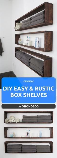 20 Super Easy Rustic DIY Shelves To Add Storage Space - Tutorials Rustic DIY shelves that are super easy to make and look amazing. Perfect shelves to add some storage space to your home. Diy Rustic Decor, Unique Home Decor, Diy Home Decor, Diy Pallet Furniture, Rustic Furniture, Furniture Storage, Urban Furniture, Distressed Furniture, Antique Furniture