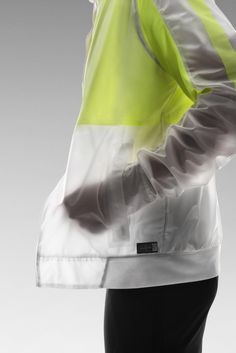 That neon and white with slight transparency. can see yet not see whats in the pockets?