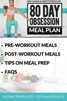 80 day obsession recipes - pre and post workout meals on Timed Nutrition by Autumn Calabrese & Beachbody - Get Max 80 Day Obsession results with this way of eating and meal plan.