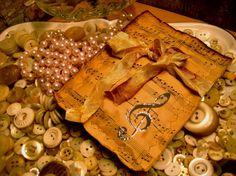 music note sachet