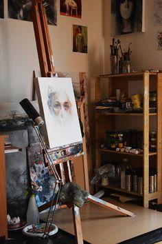 Painting by one to watch artist michał janowski (uk) arte маст Art Studio Room, Art Studio Design, Art Studio At Home, Artist Aesthetic, Art Hoe, Magazine Art, Art Studios, Art Inspo, New Art