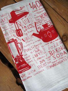 fun red kitchen prints
