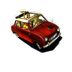 #1172 Old Car , Width 8 cm, decal sticker - DecalStar.com
