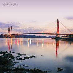 사랑하는 사람과 함께 보고 싶은 #새벽 의 #진도대교  #Jindo #Bridge of #dawn makes #people #want to be with a loved one  #tech #build #beauty #morning #lights #sea #daily #date #Korea #regram #Hyundai_Engineering_Construction #현대건설 #대교 #다리 #추천 #해남 #진도 #감성 #일출 #일상 #여행 #리그램 #리스타그램