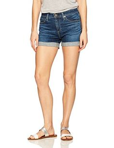 AG Adriano Goldschmied Women's the Hailey Jean Short: A classic take on a relaxed denim short with cuffed raw hem Shorts Outfits Women, Short Outfits, Spring Shorts, Short Women Fashion, Cut Off Jeans, Jean Shorts, Women's Shorts, Short Blonde, Adriano Goldschmied