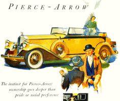 1932 Pierce-Arrow Vintage Advertisements, Vintage Ads, Vintage Posters, Classic Motors, Classic Cars, Automobile, Auto Retro, Car Brochure, Cars Usa