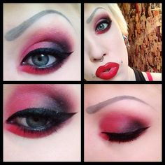 red makeup - themarriedapp.com hearted <3