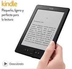 "Kindle, e-reader con wifi integrado y pantalla de E Ink de 6"""