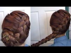 Dutch braid like Katniss in the Hunger Games: I actually find Dutch braids are easier with my medium length hair because it's harder to get enough tension for a French braid.
