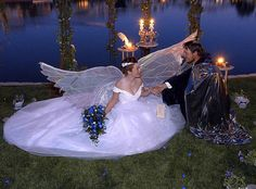 Picking a wedding theme is hard! Sometimes, you can't decide between 'elf' or 'fairy'.