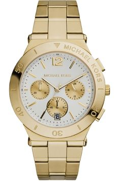 Michael Kors Wyatt Watch - gold bracelet   white dial MK5933 £246 Michael  Kors Watch ab13a28b52