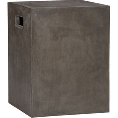 cement grey side table in outdoor furniture | CB2 - how do they make this so cheap and ship for 21.95???