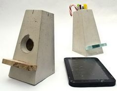 Concrete iPad Stand. Concrete isn't just for the infrastructure and base of certain buildings. You can use concrete in a variety of DIY projects, and infuse it into everyday products.