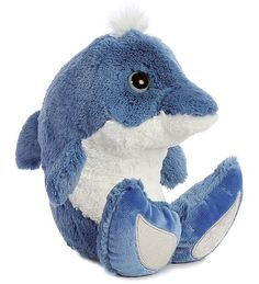 Dynamo Dolphin Taddle Toes Plush Animal by Aurora (Rotated View)