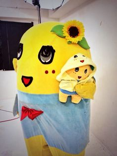 "ふなっしー  Funassyi and ""mini-me"""