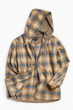 Slide View: 1: Pendleton Wool Hooded Jacket