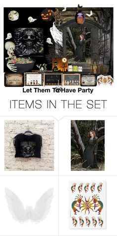 """""""Spooky Halloween Party"""" by lataarv ❤ liked on Polyvore featuring art and ZazzleHalloweencollection"""