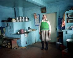Ukraine / from the book project U by Sputnik / Karpatskie village / Boikos / Buburka Jurina Pietrewna in her house where she has lived all her life. / 03.2009 Boikos are highlanders inhabiting the Western slopes of the Ukrainian Carpathian Mountains. They live in isolation from the outside world preserving their folk customs and rites. Their lives do not differ much from the lives of their ancestors and their existence closely follows the cycles of nature. Jan Brykczynski