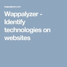 Wappalyzer is a cross-platform utility that uncovers the technologies used on websites. It detects content management systems, ecommerce platforms, web frameworks, server software, analytics tools and many more. List Of Websites, Ecommerce Platforms, Software Development, Engineering, Coding, Technology, Seo, Marketing, Tech