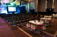 multiple kinds of seating. Add VIP soft seating up front Event Room, Soft Seating, Stage Design, Corporate Events, Table, Event Ideas, Inspiration, Vip, Conference