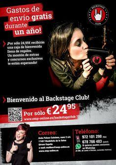BACKSTAGE CLUB : http://emp.me/wMb Nunca pagues los gastos de envío! ¡Mantén las ventajas del Backstage Club durante un año más o el tiempo que quieras! ¡Únete al Club! http://emp.me/wJO Video http://youtu.be/gpzJY7ApZJw