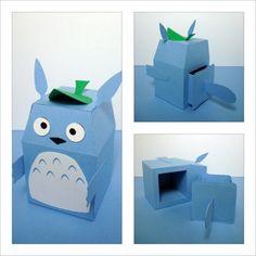 Totoro Inspired Gift Box by scissorsandclay on Etsy, $5.25