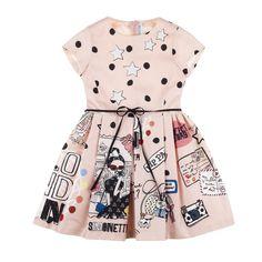 Souvenir-print dress - Dresses - Girl - Fall Winter