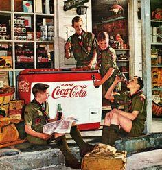 Vintage Coca Cola Ad 1959 Norman Rockwell Illustrator