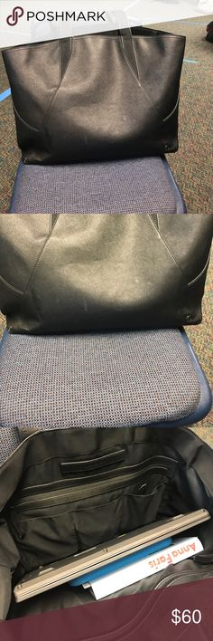 Lululemon Black Bag In used condition that has some wear (pictured). Great for the gym and school. Loads of life left! Open to offers and no trades! lululemon athletica Bags Shoulder Bags