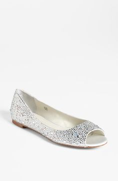 Benjamin Adams Flat available at #Nordstrom I think these are a better color but I do not love the open toe. I want more of a ballet slipper