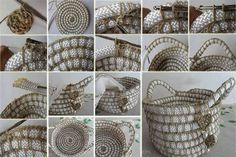 Image result for how to make crochet baskets