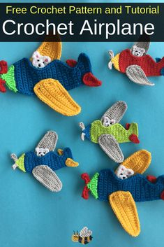 Get this free crochet pattern of this cute crochet airplane applique at Kerri's Crochet. appliques for boys Get this free crochet pattern of this cute crochet airplane applique. Crochet Gifts, Cute Crochet, Crochet For Kids, Easy Crochet, Crochet Baby, Crochet Owls, Crochet Animals, Crochet Applique Patterns Free, Crochet Animal Patterns