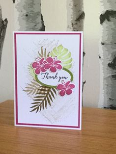 Stampin' Up Tropical Chic Stamps and dies - created by Julia Jordan